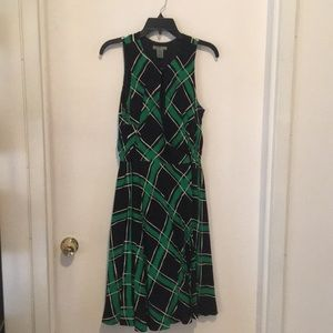 Anthropologie print wrap dress w/keyhole front